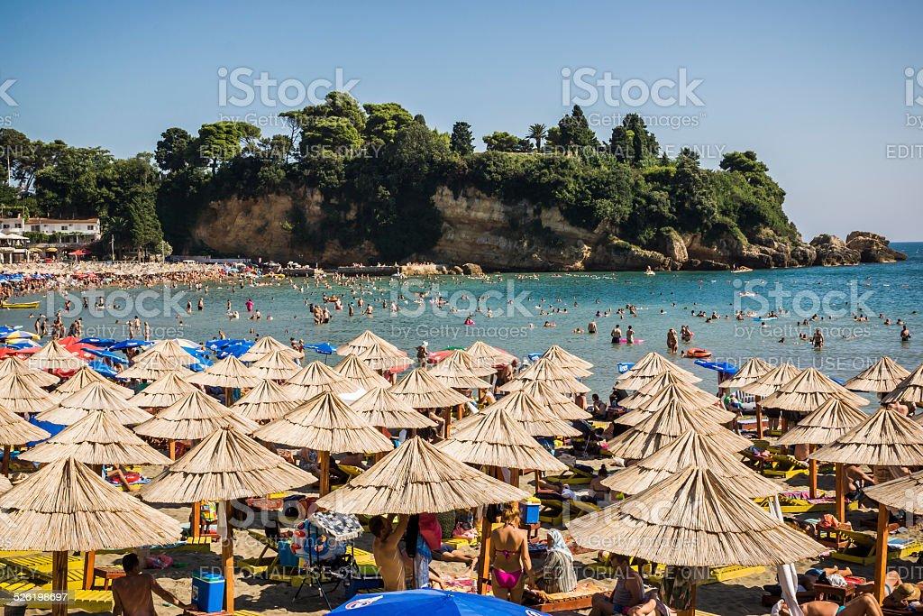 Small Beach in Ulcinj / Ulqin Montenegro stock photo