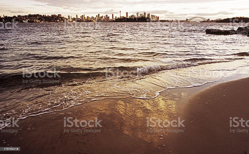 Small beach stock photo