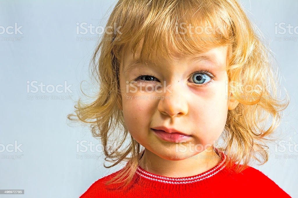 Small beauty girl stock photo