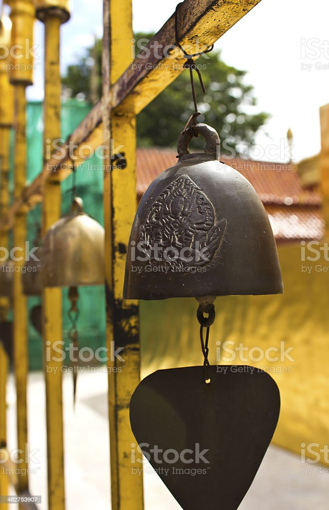 small bell hanging stock photo