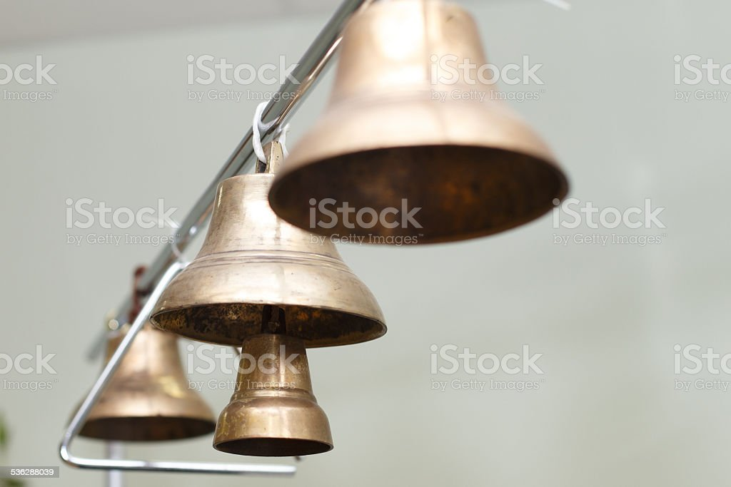 Small bells and triangle stock photo