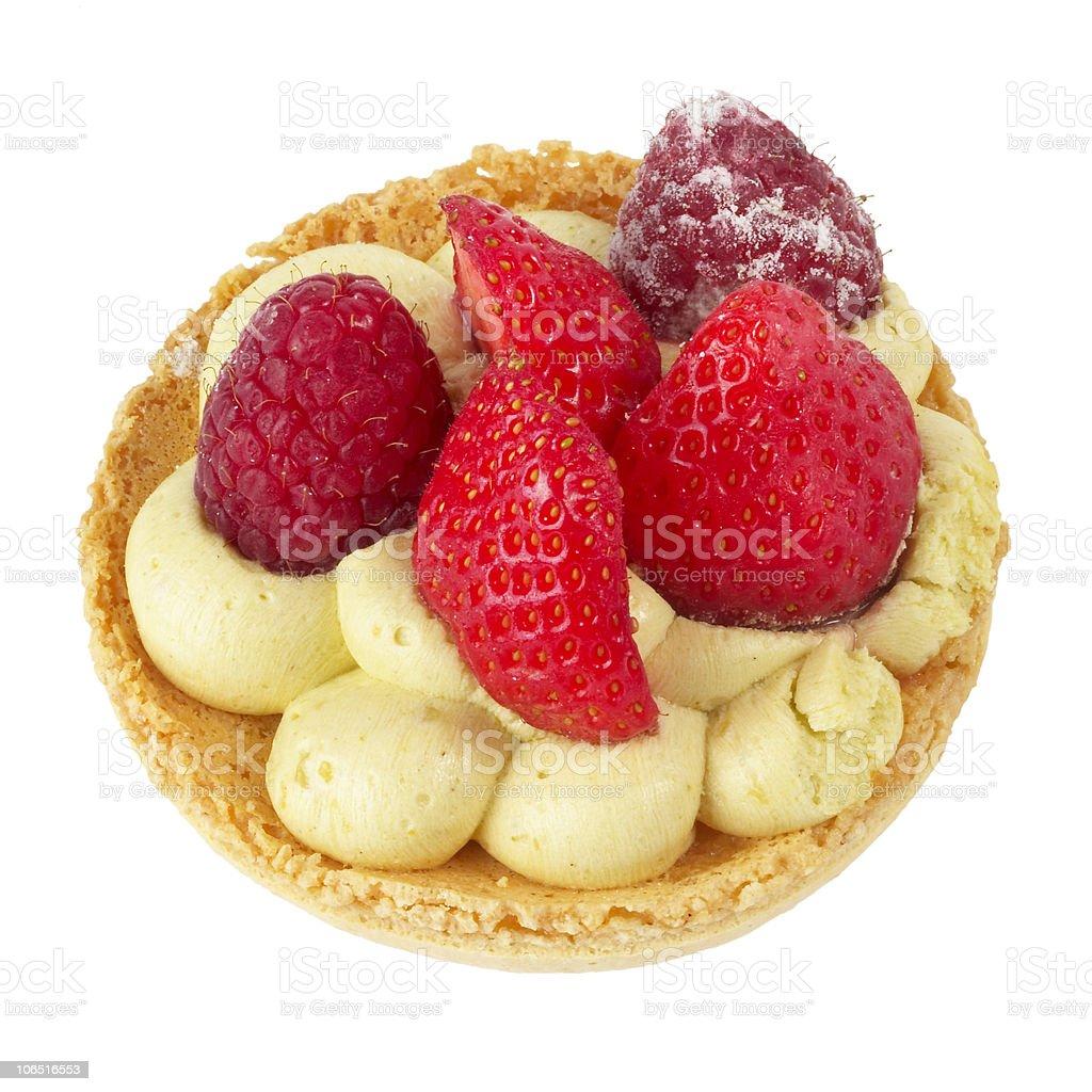 Small berries tart royalty-free stock photo
