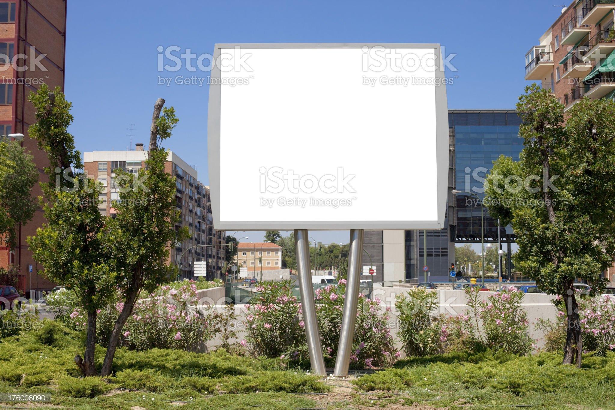 Small billboard in street. Series. royalty-free stock photo