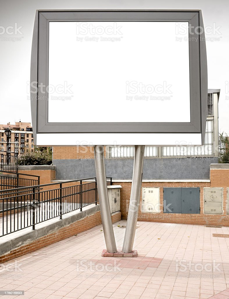 Small billboard in street. Series. royalty-free stock photo