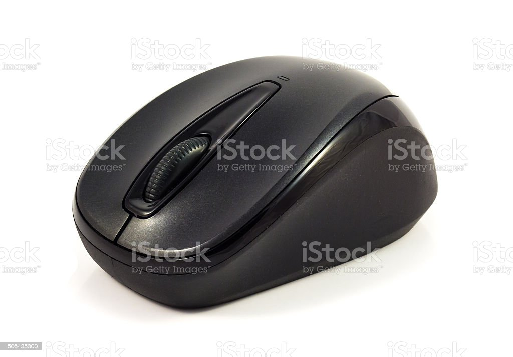 Small Black Cordless Mouse stock photo