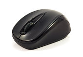 Small Black Cordless Mouse
