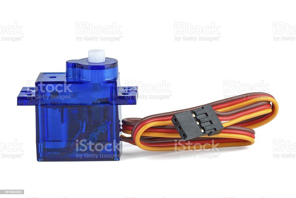 Pequenos azuis servo-unidade para RC de modelos foto de stock royalty-free