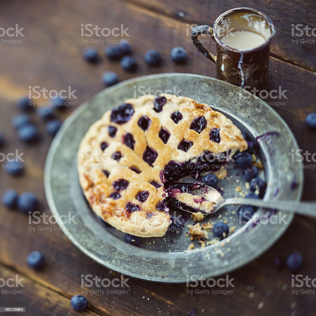 small blueberry pie royalty-free stock photo