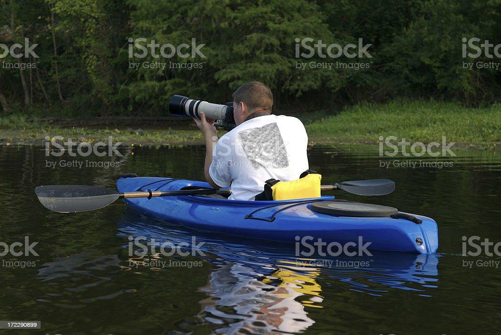 Small Boat, Big Lens royalty-free stock photo