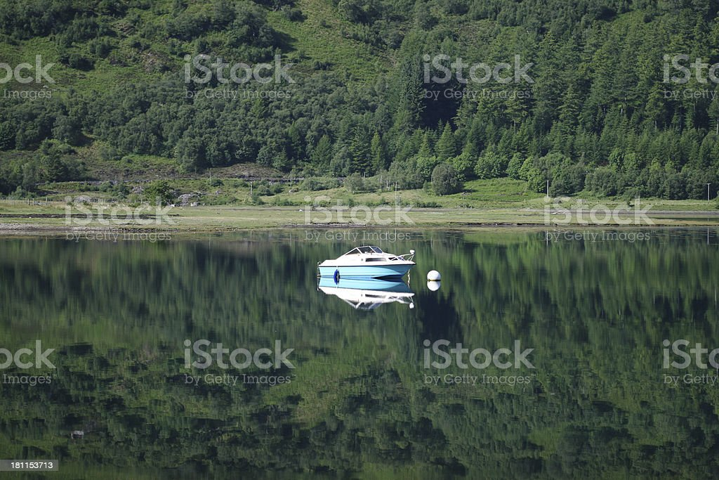 Small boat in Loch Alsh, Scotland royalty-free stock photo