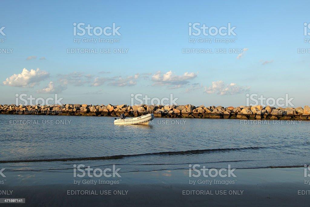 Small Boat on Chesapeake Bay royalty-free stock photo
