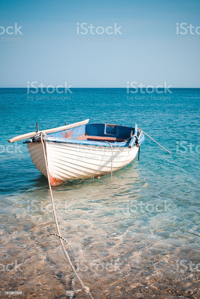 Small boat vintage style royalty-free stock photo