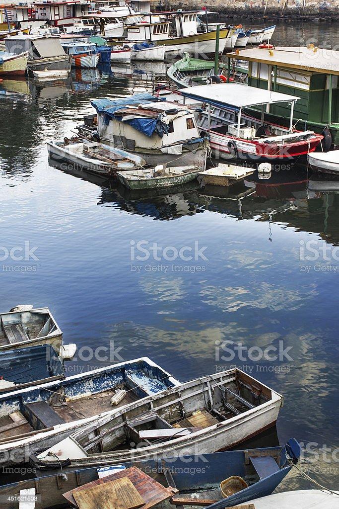Small boats royalty-free stock photo
