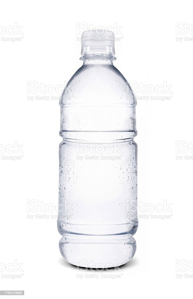 small bottle of water isolated royalty-free stock photo