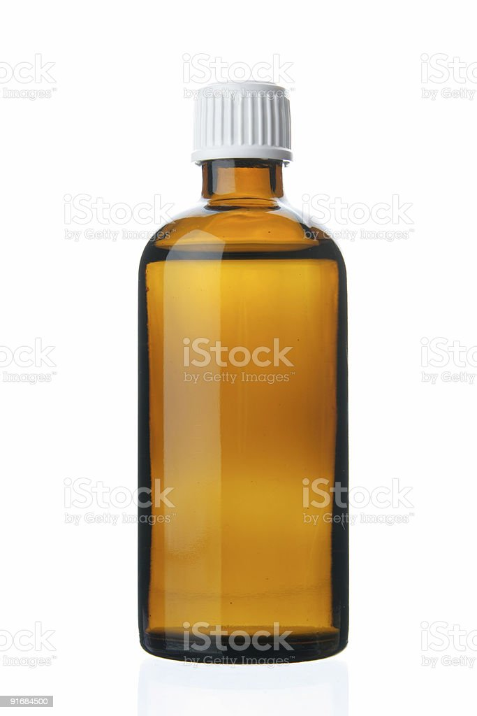 Small bottle with drug stock photo
