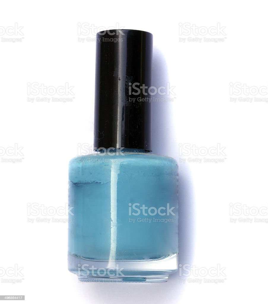Small bottle with nail polish royalty-free stock photo