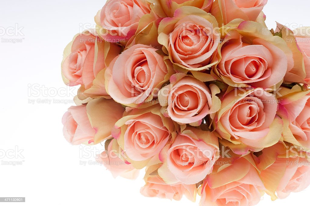 Small Bouquet of Roses, Love, Romance, Concept, White Background royalty-free stock photo