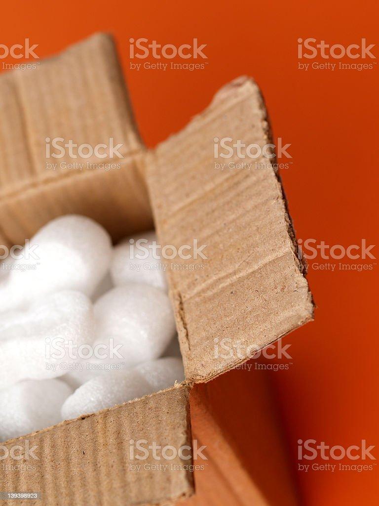 small box on orange royalty-free stock photo