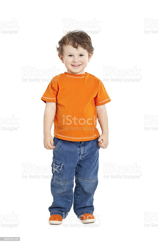 small boy standing royalty-free stock photo