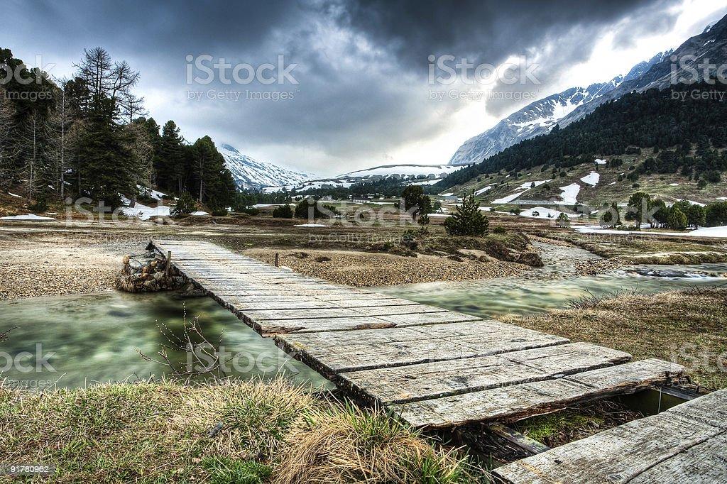 Small bridge stock photo