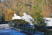 Small bridge whith lion sculptures