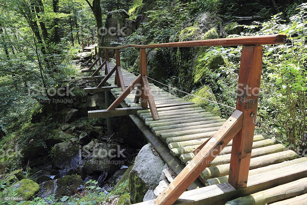 Small bridges in the valley of Munster stock photo