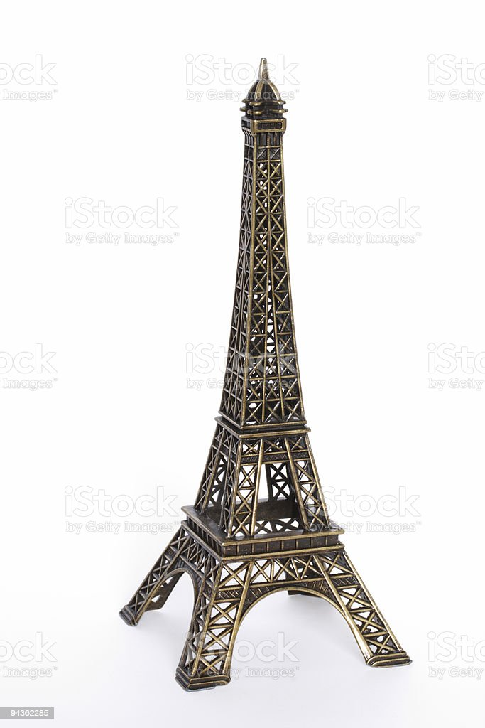 Small bronze copy of Eiffel tower royalty-free stock photo
