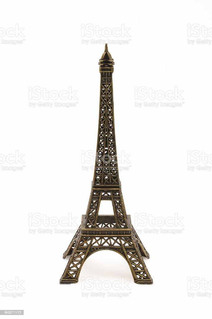 Small bronze figurine of Eifel tower royalty-free stock photo
