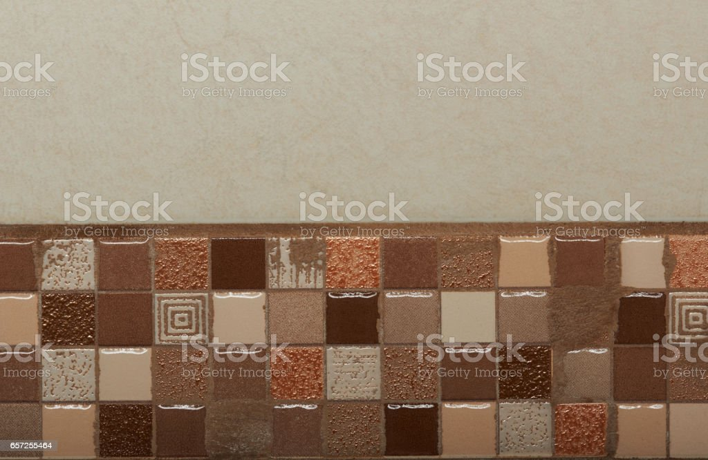Small brown tiles stock photo