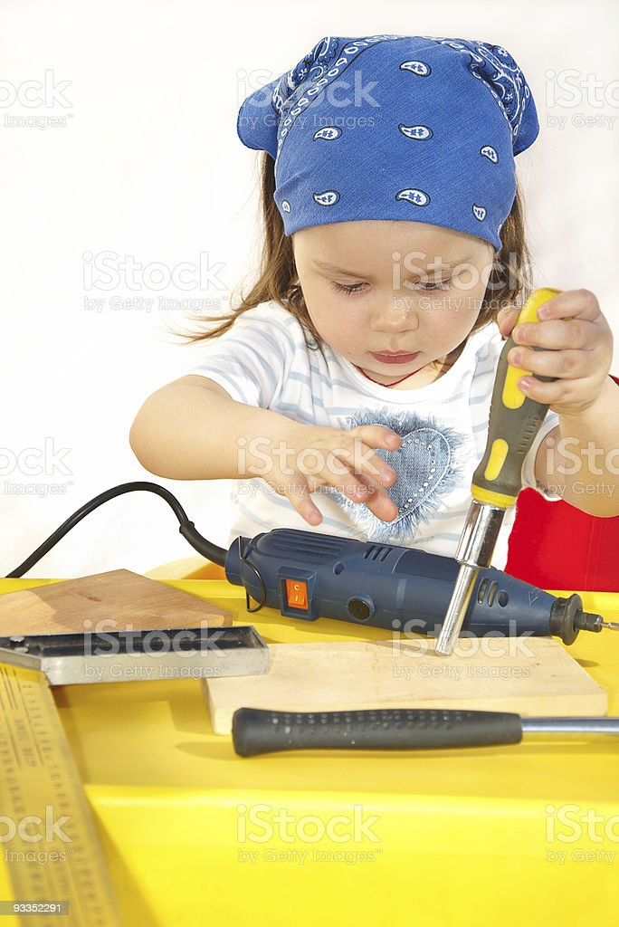 small builder royalty-free stock photo