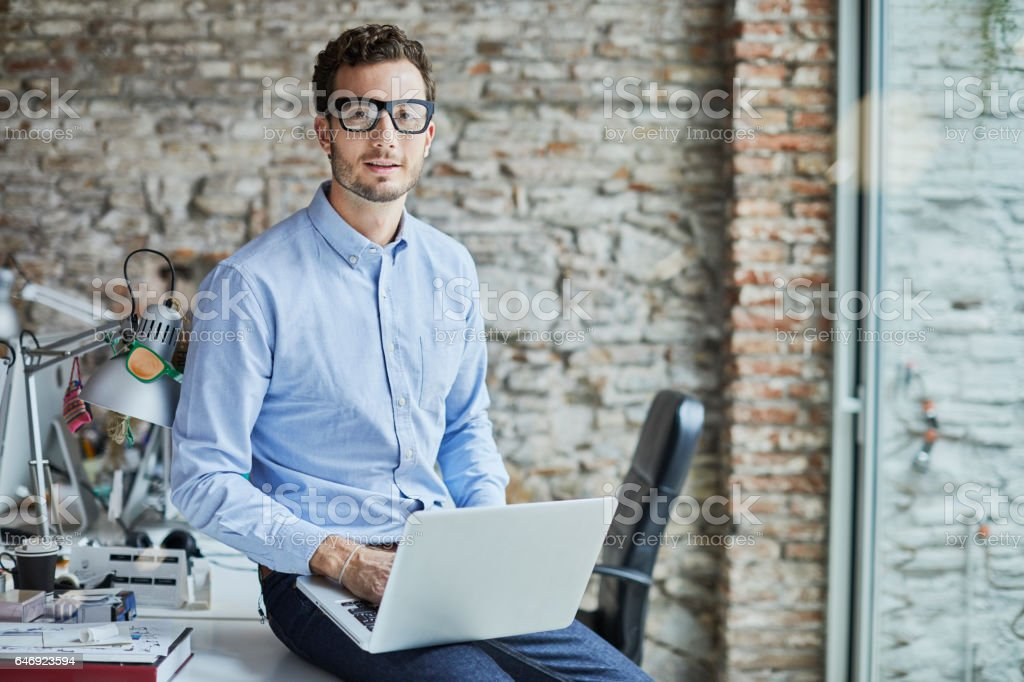 161218 Small business, businessperson portrait. stock photo