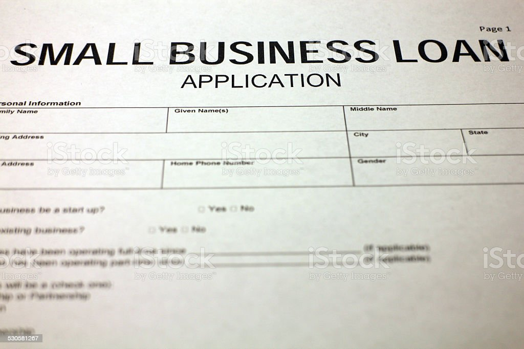 Small Business Document stock photo