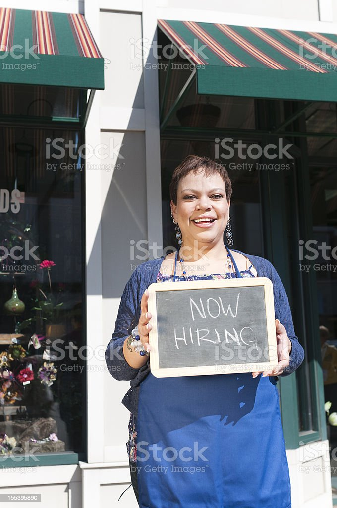 Small Business Hiring royalty-free stock photo