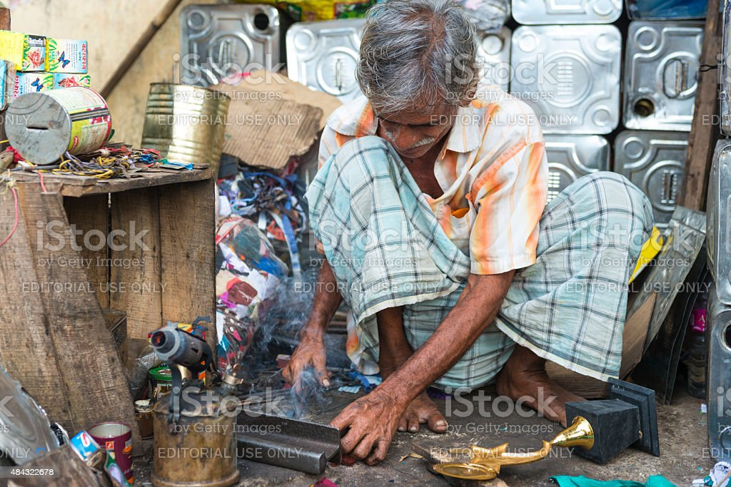 Small business in India stock photo