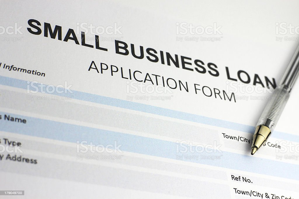 Small business loan application form royalty-free stock photo