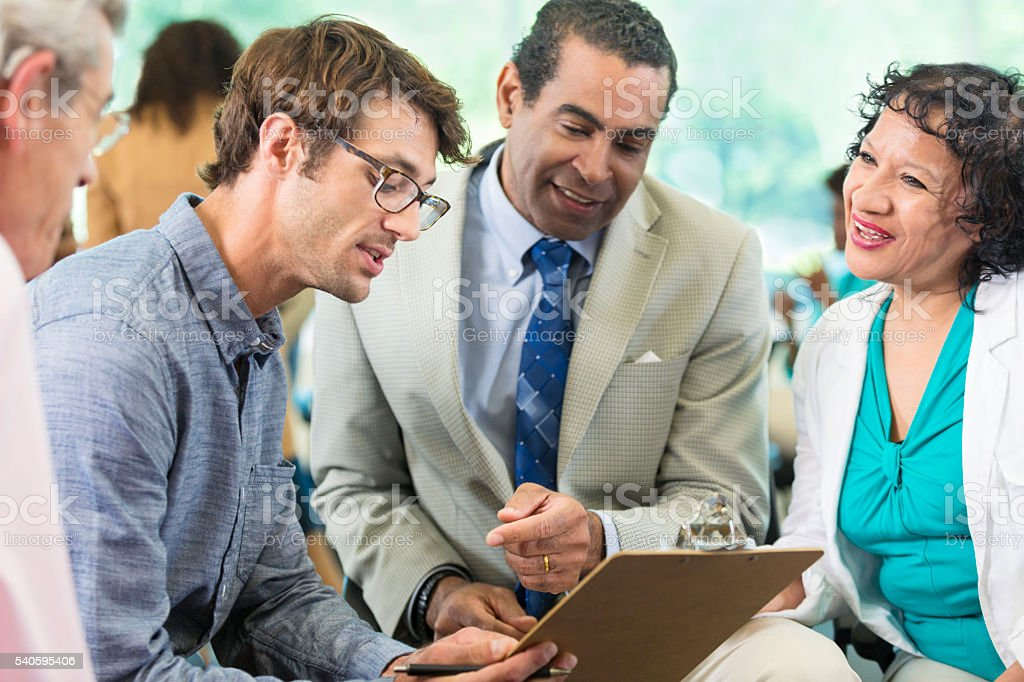 Small business meeting stock photo