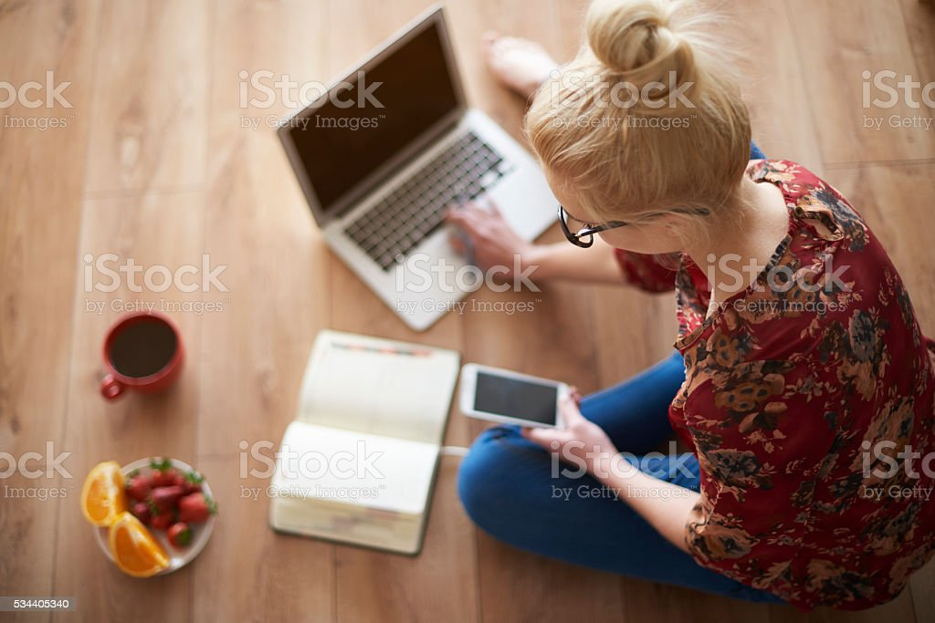 Small business of young woman stock photo