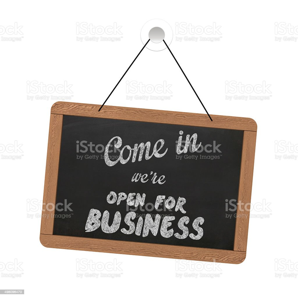 Small business open sign stock photo