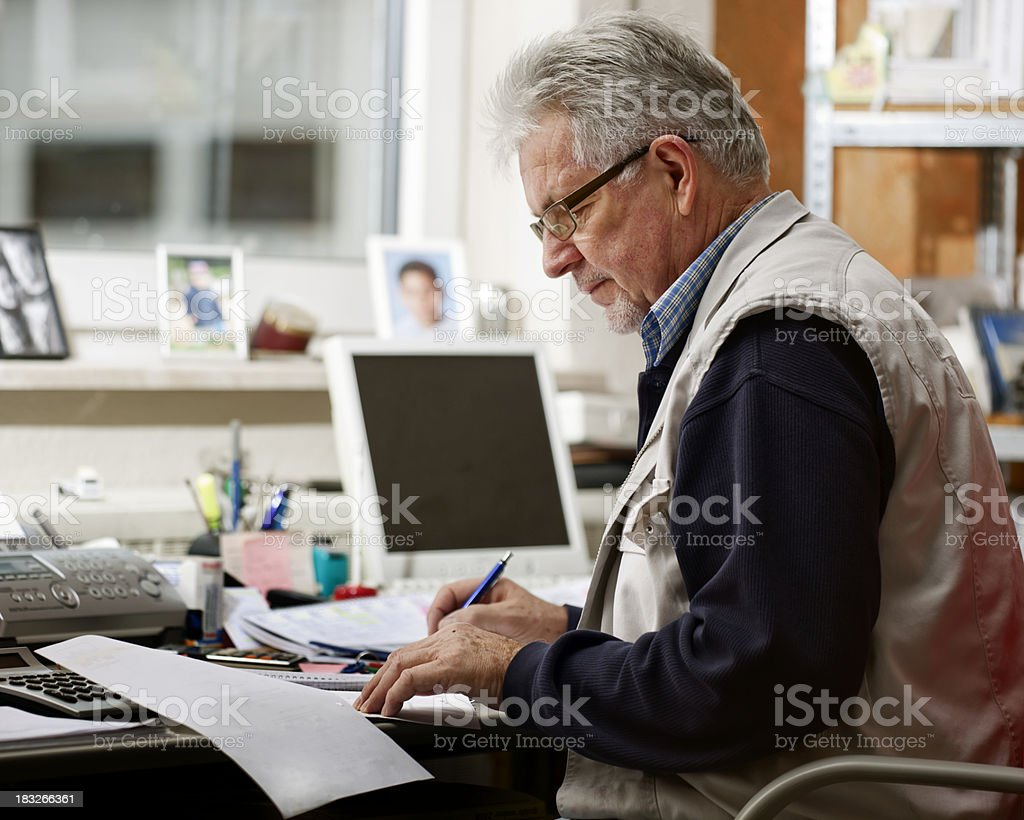 Small Business Owner at Work royalty-free stock photo