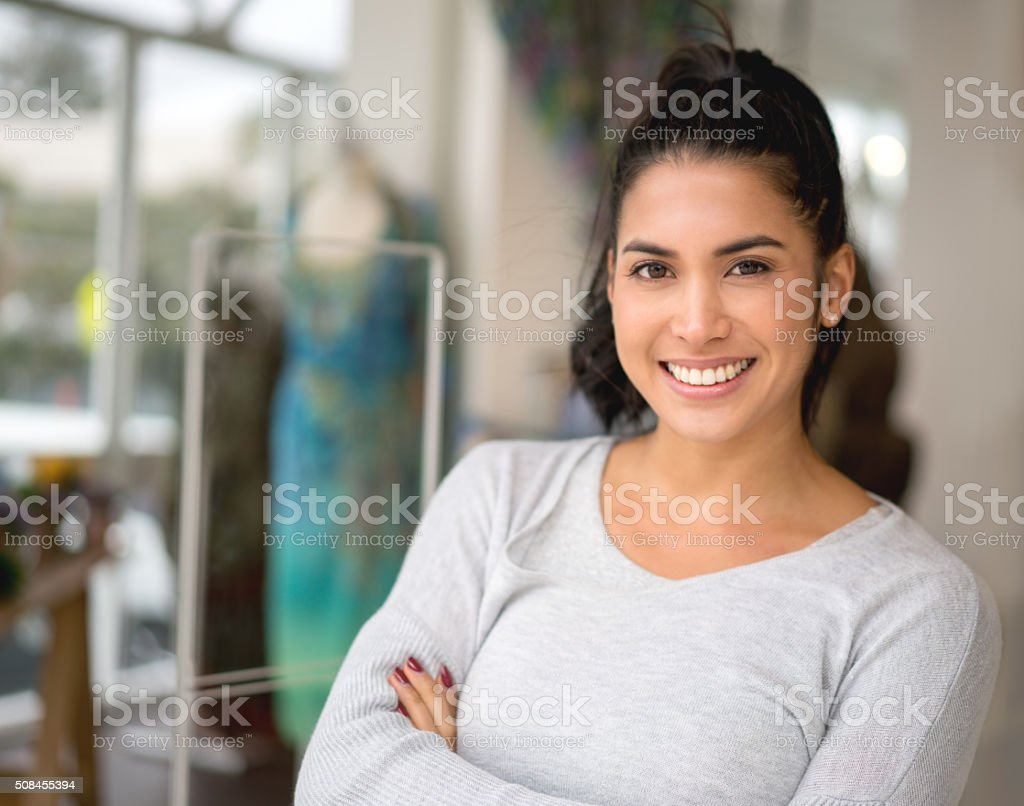 Small business owner stock photo