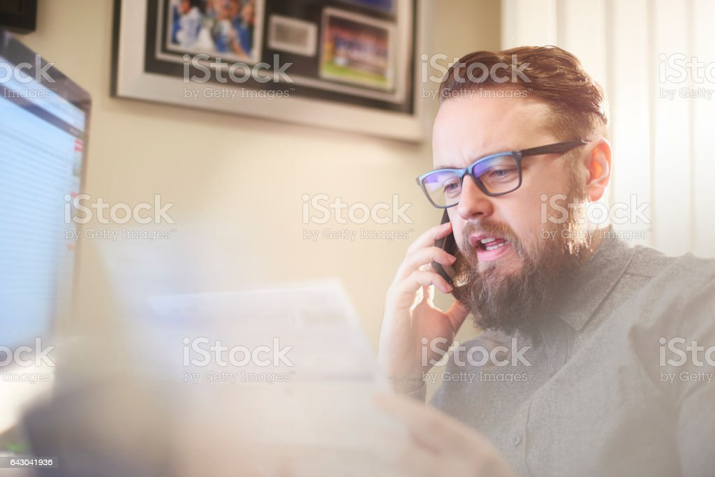 Small business owner talking to bank manager stock photo