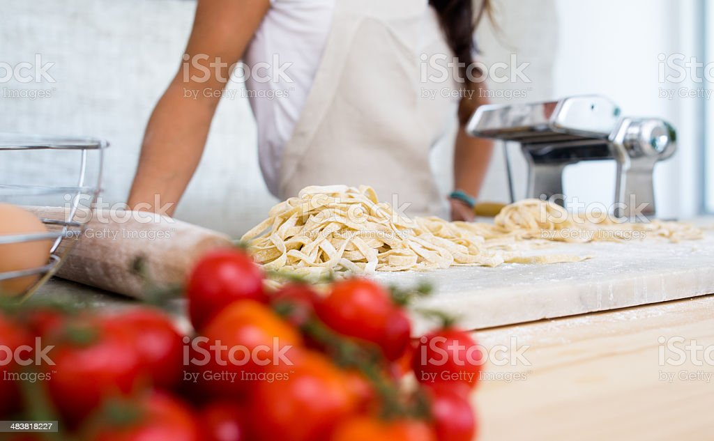 Small Business Pasta Maker royalty-free stock photo