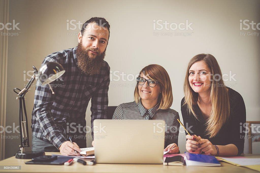 Small business start up team: potrait stock photo