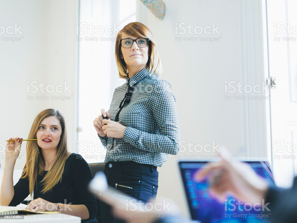 Small business start up team: women at work stock photo