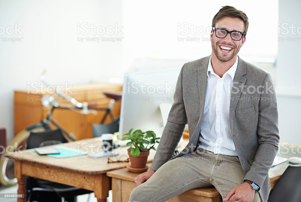 Small business success story stock photo