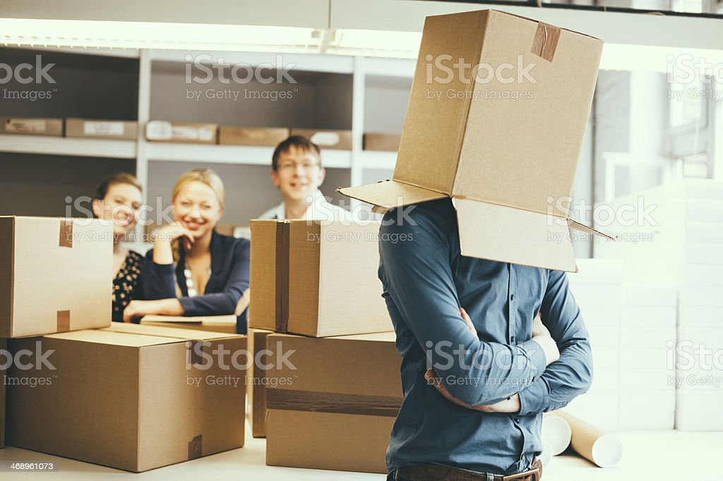 small business team leader stock photo