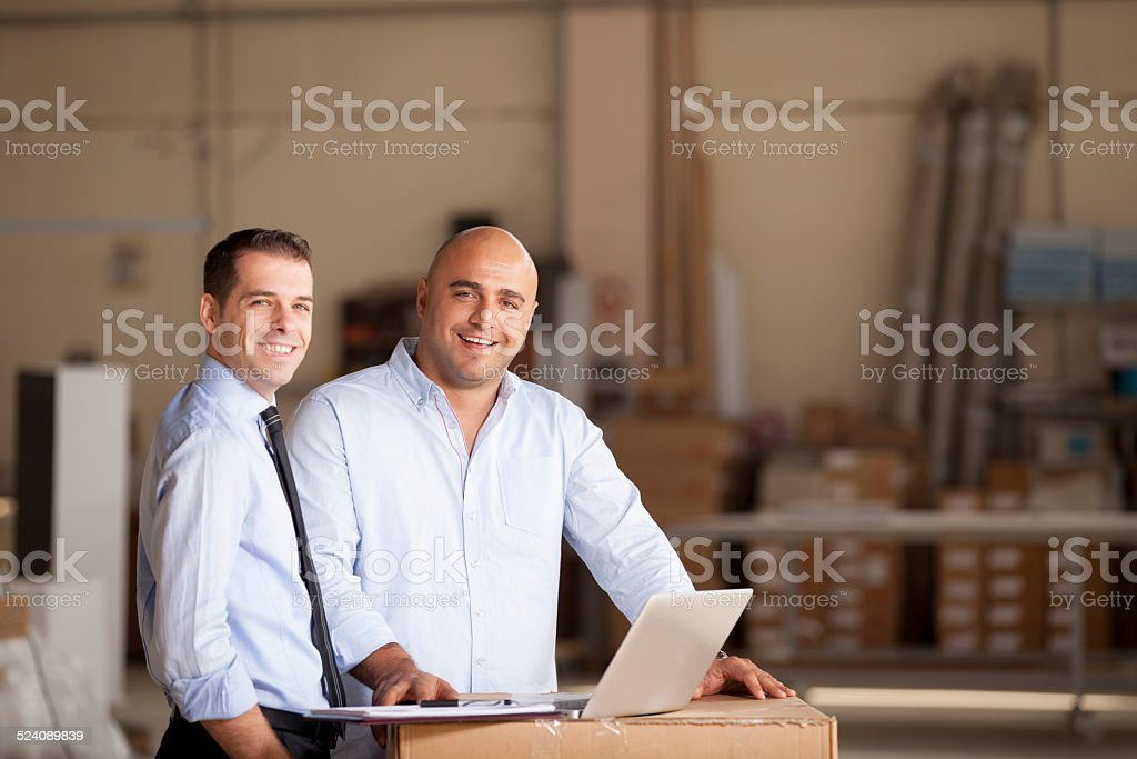Small Businessman and Financial Advisor stock photo