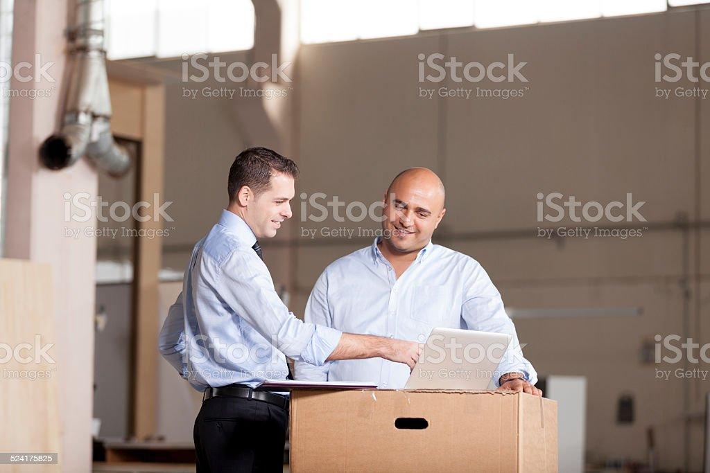 Small Businessman and Financial Advisor stock photo
