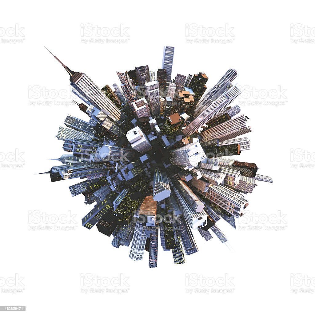 small busy planet stock photo