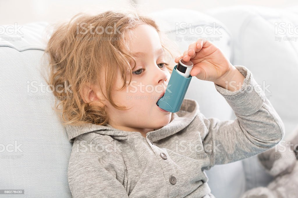 Small but conscious how to treat asthma stock photo